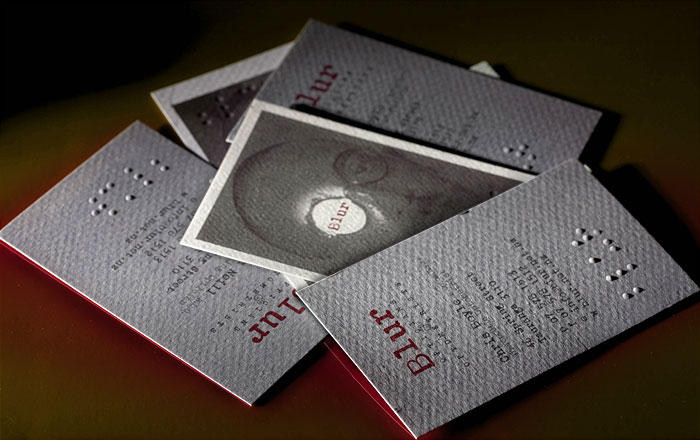 Blur branding, business cards